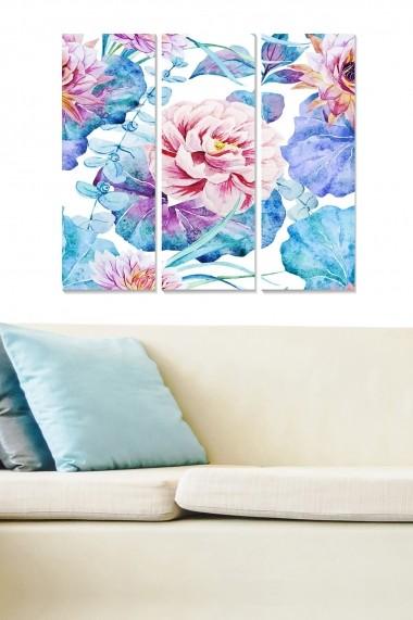 Tablou decorativ (set 3 piese) Bianca 553BNC3461 multicolor