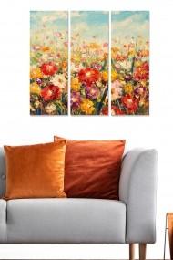 Tablou decorativ (set 3 piese) Bianca 553BNC3466 multicolor