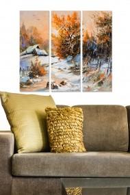 Tablou decorativ (set 3 piese) Bianca 553BNC3475 multicolor