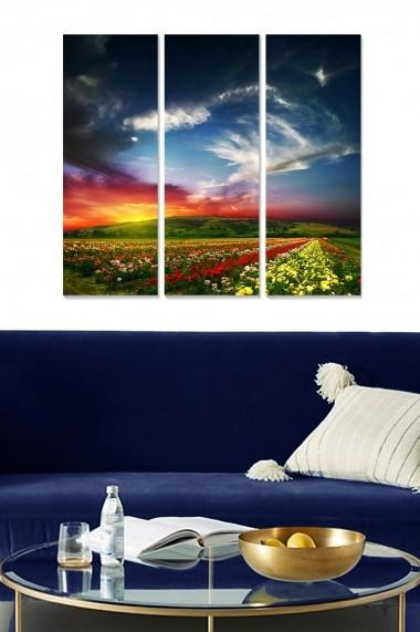 Tablou decorativ (set 3 piese) Bianca 553BNC3483 multicolor