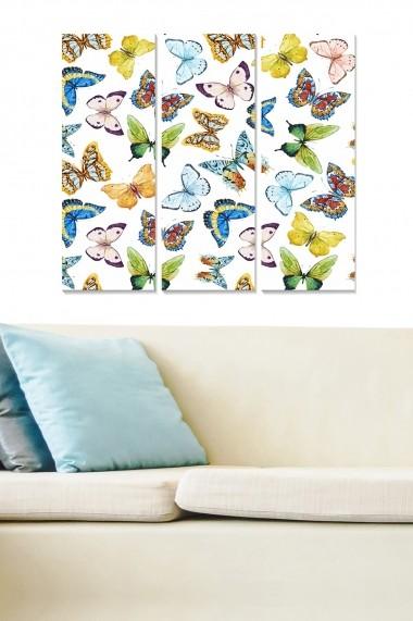 Tablou decorativ (set 3 piese) Bianca 553BNC3488 multicolor