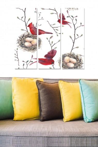 Tablou decorativ (set 3 piese) Bianca 553BNC3491 multicolor