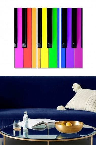 Tablou decorativ (set 3 piese) Bianca 553BNC3498 multicolor
