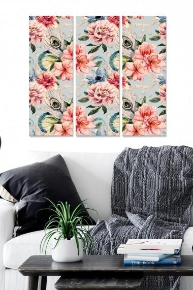 Tablou decorativ (set 3 piese) Bianca 553BNC3501 multicolor