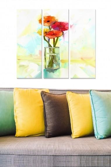 Tablou decorativ (set 3 piese) Bianca 553BNC3503 multicolor