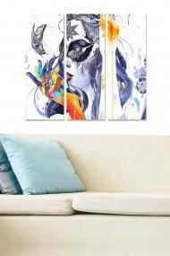 Tablou decorativ (set 3 piese) Bianca 553BNC3533 multicolor