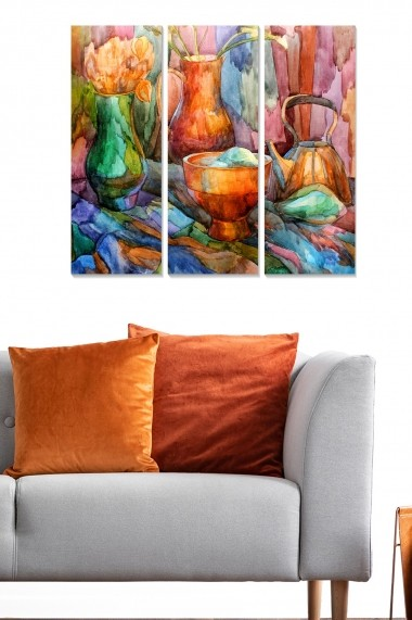 Tablou decorativ (set 3 piese) Bianca 553BNC3536 multicolor