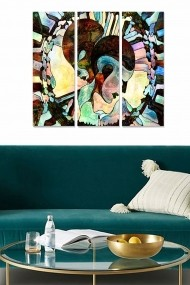 Tablou decorativ (set 3 piese) Bianca 553BNC3587 multicolor