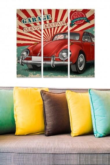 Tablou decorativ (set 3 piese) Bianca 553BNC3590 multicolor