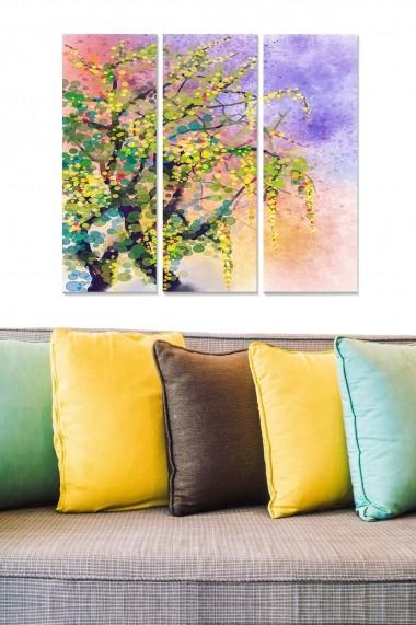 Tablou decorativ (set 3 piese) Bianca 553BNC3605 multicolor