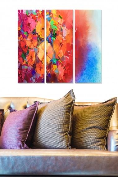 Tablou decorativ (set 3 piese) Bianca 553BNC3606 multicolor