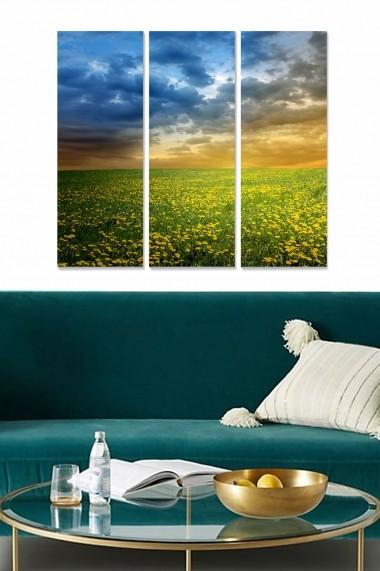 Tablou decorativ (set 3 piese) Bianca 553BNC3617 multicolor