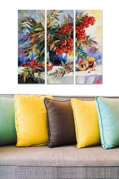 Tablou decorativ (set 3 piese) Bianca 553BNC3621 multicolor