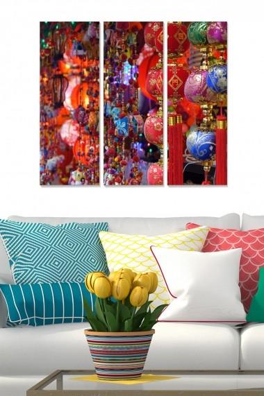 Tablou decorativ (set 3 piese) Bianca 553BNC3632 multicolor