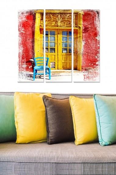 Tablou decorativ (set 3 piese) Bianca 553BNC3641 multicolor