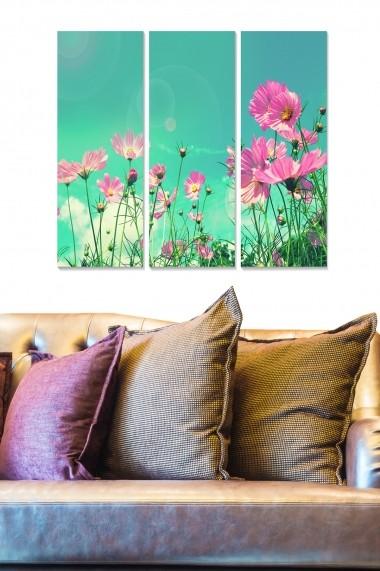 Tablou decorativ (set 3 piese) Bianca 553BNC3645 multicolor
