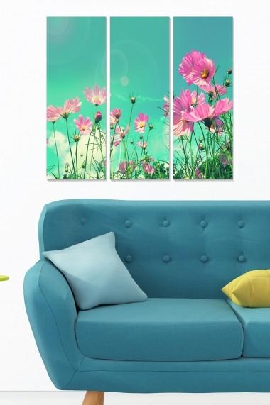 Tablou decorativ (set 3 piese) Bianca 553BNC3646 multicolor