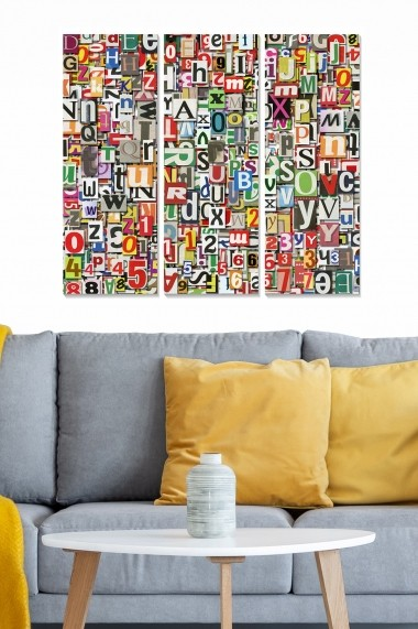 Tablou decorativ (set 3 piese) Bianca 553BNC3647 multicolor