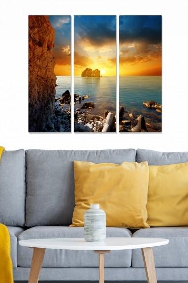 Tablou decorativ (set 3 piese) Bianca 553BNC3652 multicolor