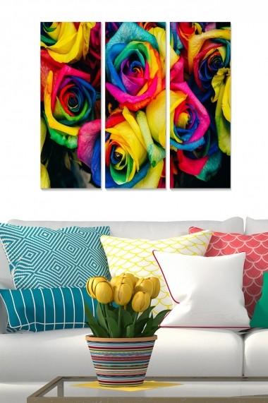 Tablou decorativ (set 3 piese) Bianca 553BNC3655 multicolor