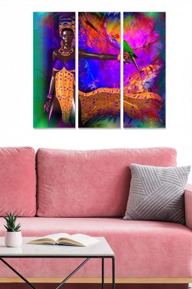 Tablou decorativ (set 3 piese) Bianca 553BNC3681 multicolor