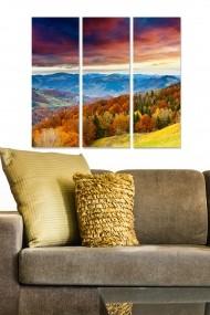 Tablou decorativ (set 3 piese) Bianca 553BNC3688 multicolor