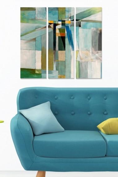 Tablou decorativ (set 3 piese) Bianca 553BNC3707 multicolor