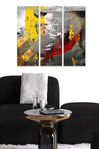 Tablou decorativ (set 3 piese) Bianca 553BNC3711 multicolor