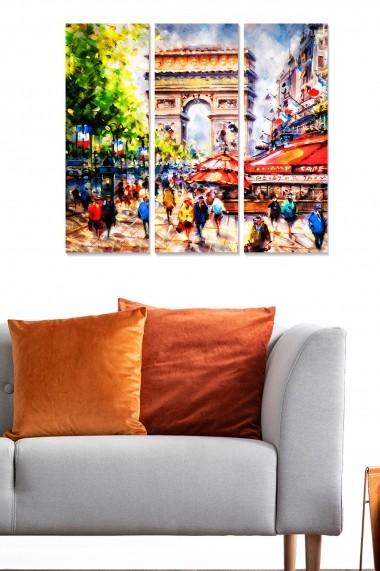 Tablou decorativ (set 3 piese) Bianca 553BNC3723 multicolor