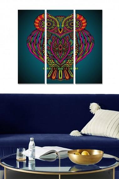 Tablou decorativ (set 3 piese) Bianca 553BNC3733 multicolor