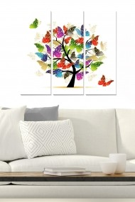 Tablou decorativ (set 3 piese) Bianca 553BNC3734 multicolor