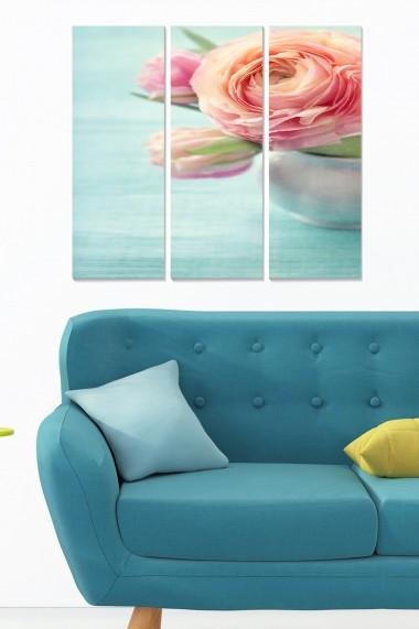 Tablou decorativ (set 3 piese) Bianca 553BNC3744 multicolor