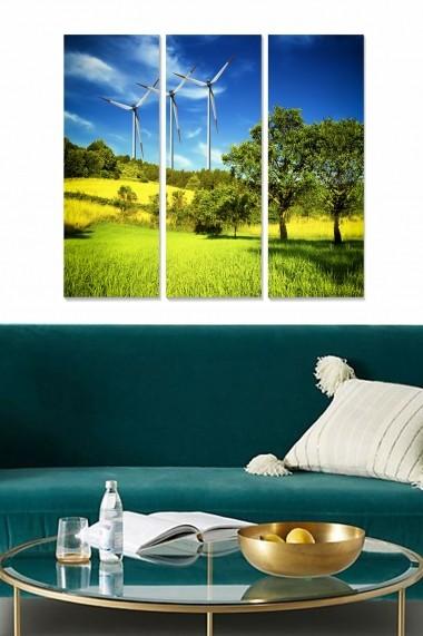 Tablou decorativ (set 3 piese) Bianca 553BNC3745 multicolor