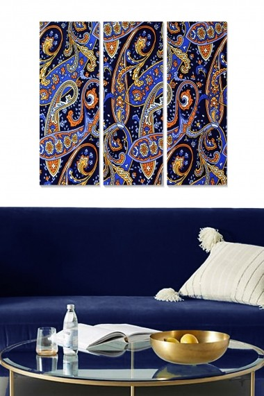 Tablou decorativ (set 3 piese) Bianca 553BNC3748 multicolor