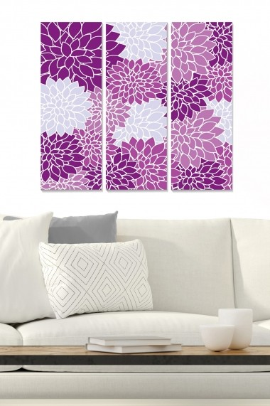 Tablou decorativ (set 3 piese) Bianca 553BNC3760 multicolor
