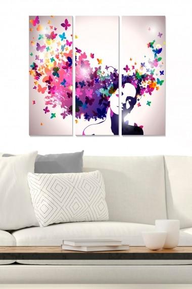 Tablou decorativ (set 3 piese) Bianca 553BNC3763 multicolor