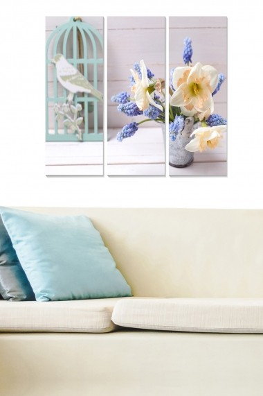 Tablou decorativ (set 3 piese) Bianca 553BNC3785 multicolor