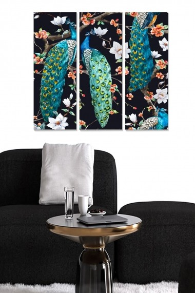 Tablou decorativ (set 3 piese) Bianca 553BNC3803 multicolor