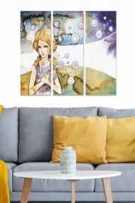 Tablou decorativ (set 3 piese) Bianca 553BNC3813 multicolor