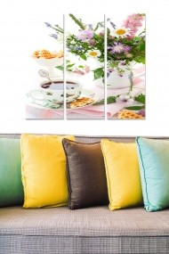 Tablou decorativ (set 3 piese) Bianca 553BNC3833 multicolor