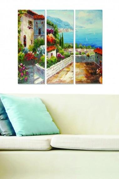 Tablou decorativ (set 3 piese) Bianca 553BNC3862 multicolor
