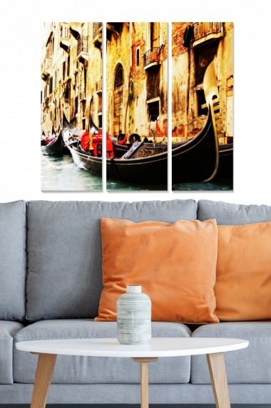 Tablou decorativ (set 3 piese) Bianca 553BNC3891 multicolor