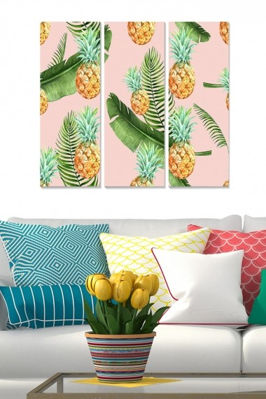 Tablou decorativ (set 3 piese) Bianca 553BNC3904 multicolor