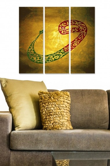 Tablou decorativ (set 3 piese) Bianca 553BNC3920 multicolor