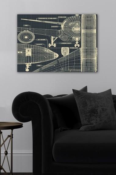 Tablou decorativ din panza Bract 529TCR1861 multicolor