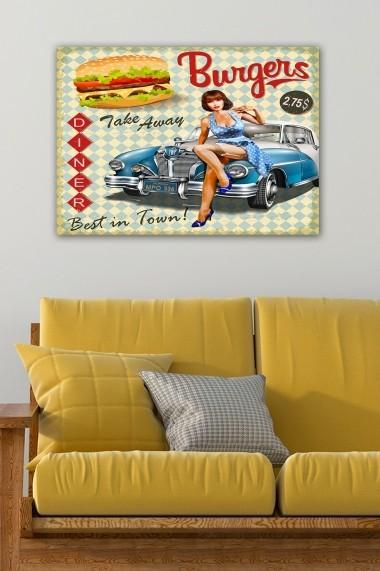 Tablou decorativ din panza Bract 529TCR1964 multicolor