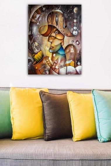 Tablou decorativ din panza Bract 529TCR1612 multicolor