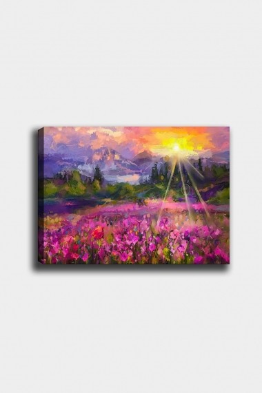 Tablou decorativ din panza Bract 529TCR1618 multicolor