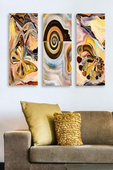 Tablou decorativ (set 3 piese) Marvellous 537MRV5104 multicolor