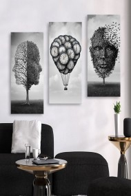 Tablou decorativ (set 3 piese) Marvellous 537MRV5106 multicolor